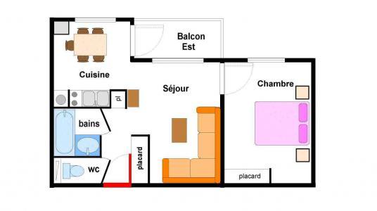 Vacances en montagne Appartement 2 pièces 5 personnes (BO0013) - Résidences du Quartier Napoléon - Val Cenis