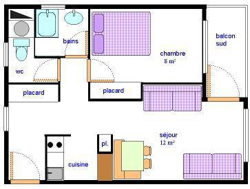 Vacances en montagne Appartement 2 pièces 5 personnes (AR27) - Résidences du Quartier Napoléon - Val Cenis