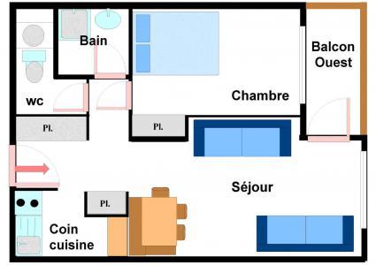 Vacances en montagne Appartement 2 pièces 5 personnes (BO0026) - Résidences du Quartier Napoléon - Val Cenis
